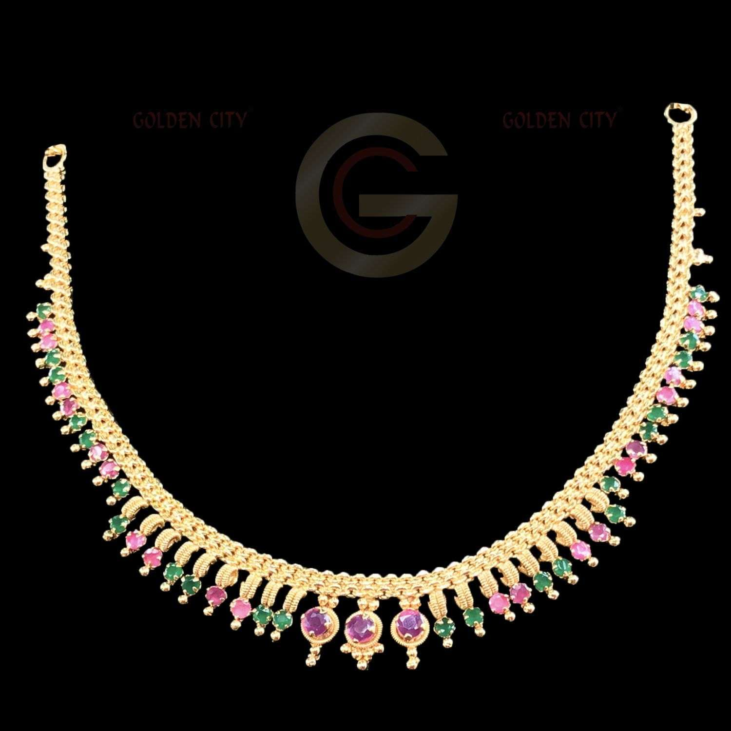 AD NECK 698 COLOUR RUBY&GREEN