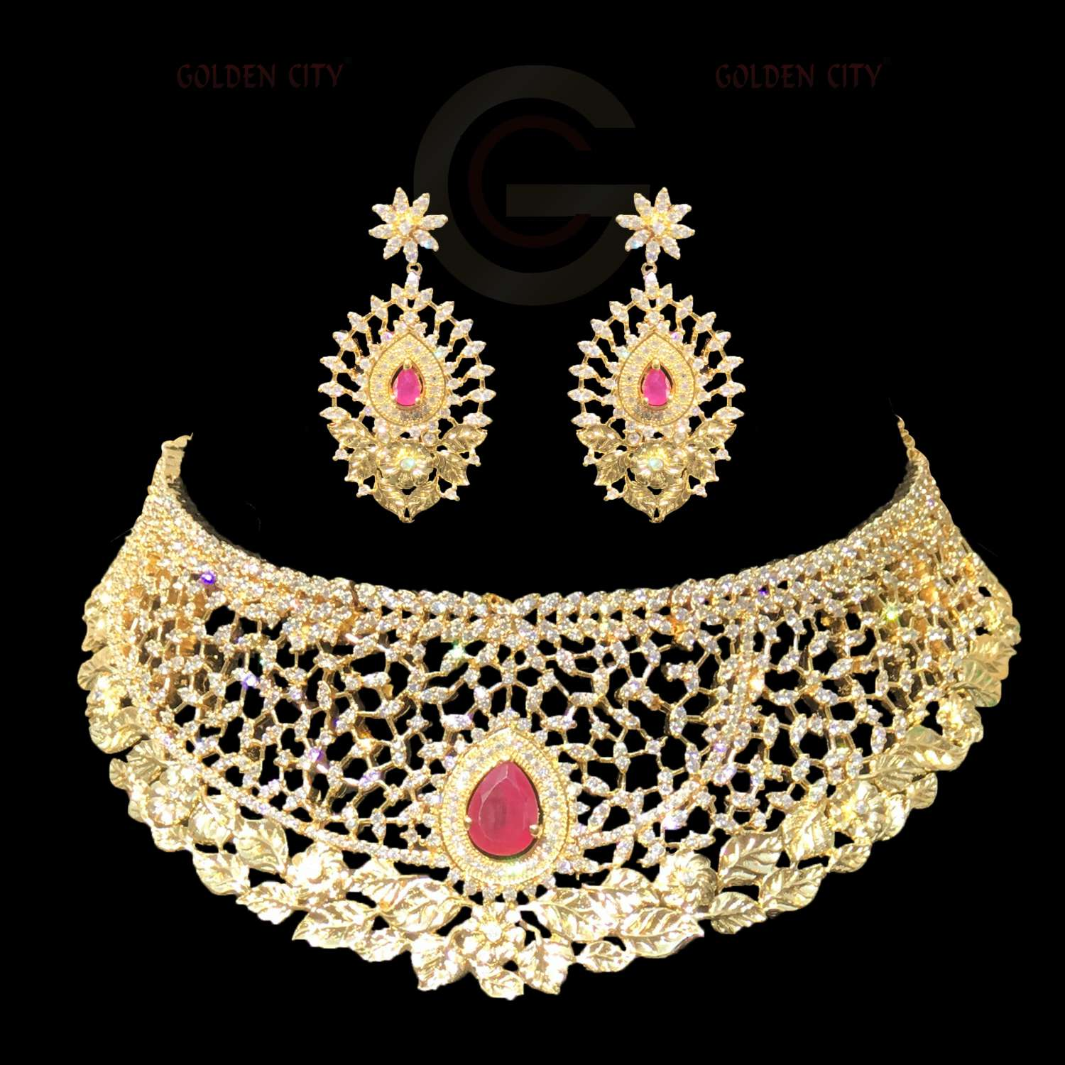 CZ CHOCKER  G5 COLOURWHITE&RUBY