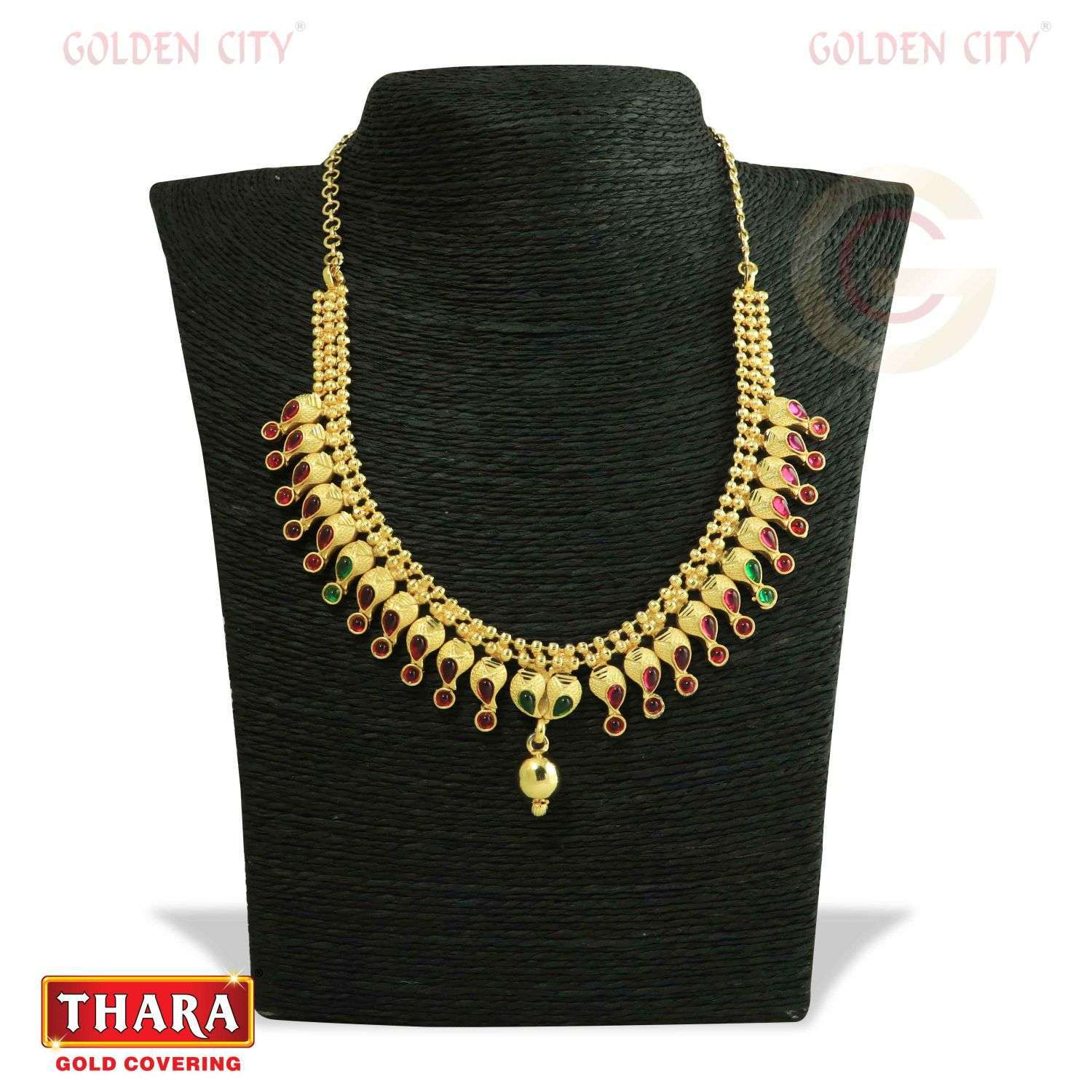 AD NECK 03 COLOUR RUBY&GREEN