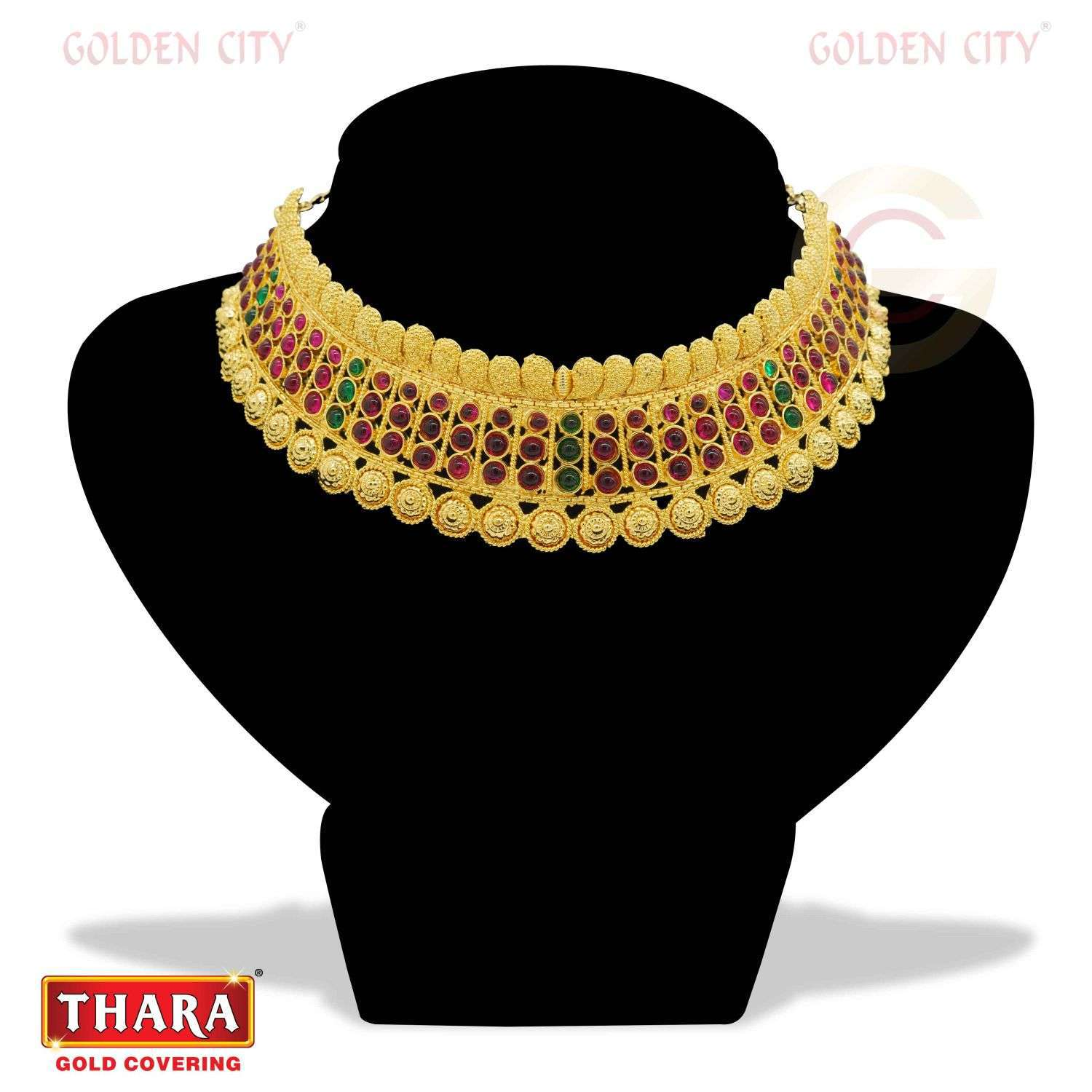 AD NECK 06  COLOUR RUBY&GREEN